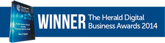 Winner at The Herald Digital Business Awards 2014.
